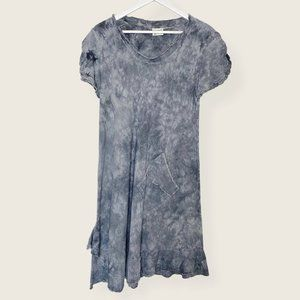 Oh My Gauze! Tie Dye Asymmetric Short Sleeve Dress